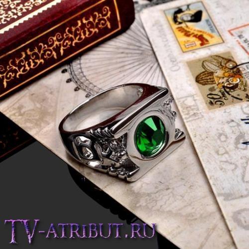 Кольцо Зеленого Фонаря с австрийским кристаллом