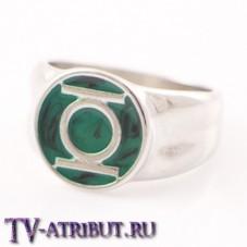 Кольцо Зеленого Фонаря с платиновым покрытием