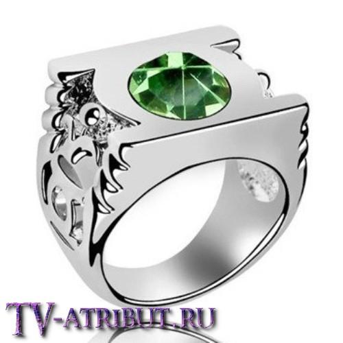 Кольцо Зеленого Фонаря (4 разных цвета кристалла)