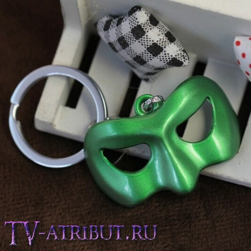 Брелок в виде маски Зеленого Фонаря