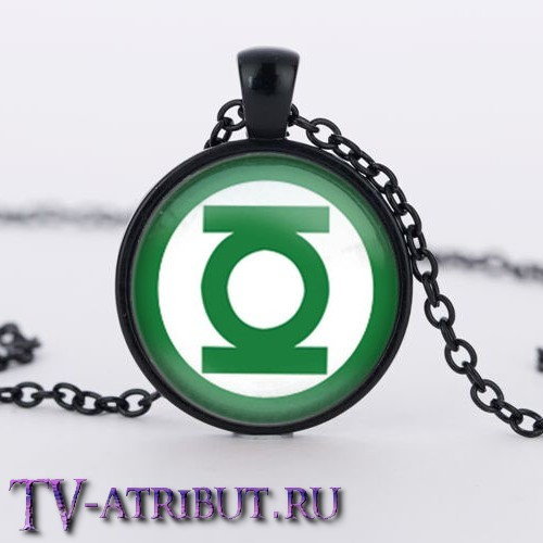 Кулон с эмблемой Зеленого Фонаря