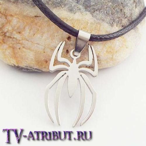 Кулон в виде эмблемы Человека-паука, сталь