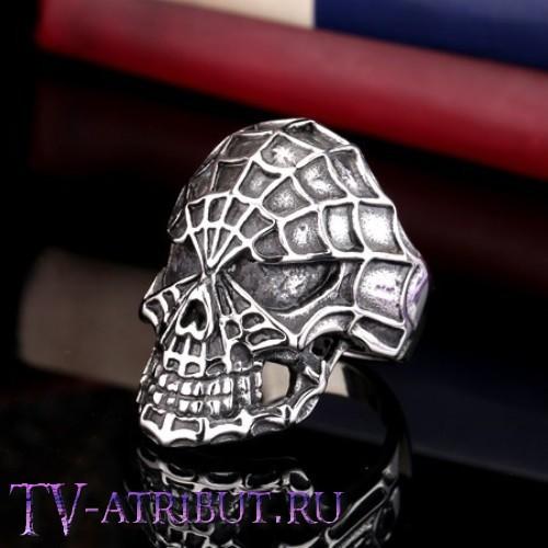 """Кольцо """"Череп Человека-паука"""", сталь"""
