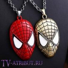 "Кулон ""Маска Человека-паука"" (цвета - красный, бронза)"