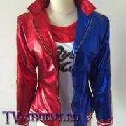 Костюм Харли Квинн (куртка, футболка, шорты, перчатка)