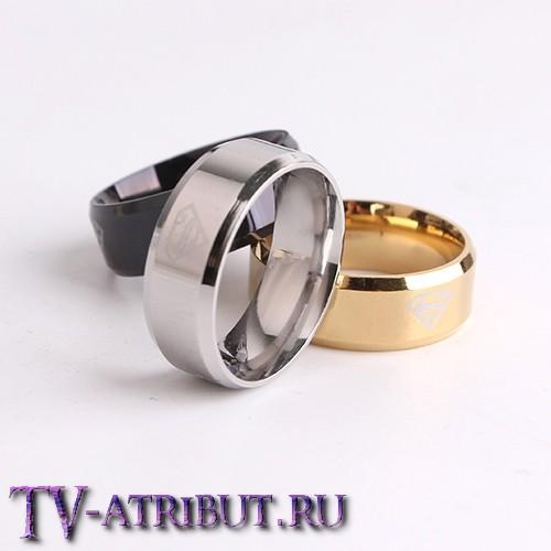 Кольцо с эмблемой Кларка Кента (Супермена), сталь