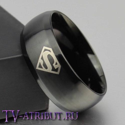 Кольцо с символом Кларка Кента (Супермена), сталь