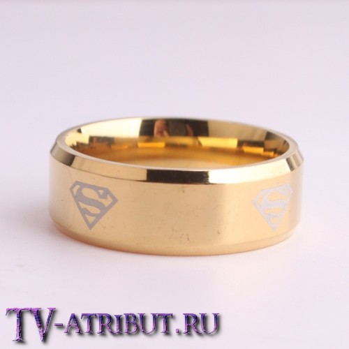 Кольцо со знаком Кларка Кента (Супермена), сталь