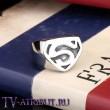 """Кольцо """"Возвращение Супермена"""", сталь"""