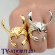 """Кольцо """"Шлем Локи"""" (цвета - золото, серебро)"""