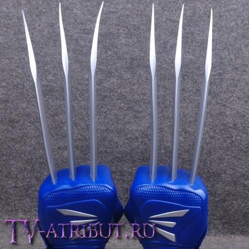 Пара перчаток с когтями Росомахи (цвета - синий, чёрный)