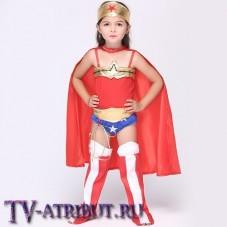 Детский костюм для косплея Чудо-Женщины