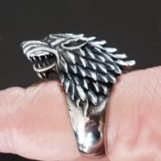 61 Кольцо с лютоволком Старков (Игра престолов)