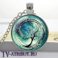 Кулон с эмблемой Дивергента, голубой