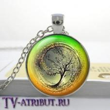 Кулон с эмблемой Дивергента, желто-зеленый