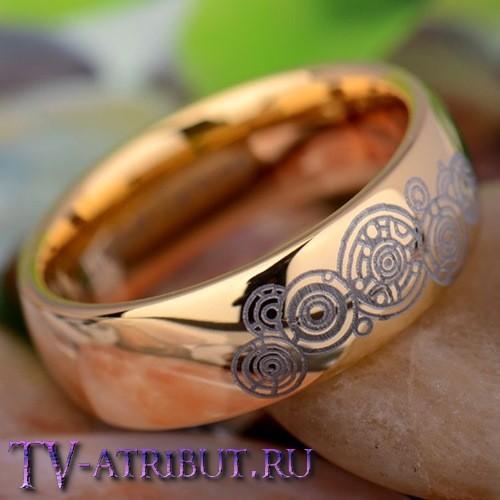 """Кольцо """"Галлифрей"""", цвет золото, карбид вольфрама"""
