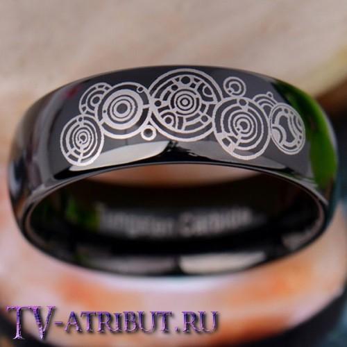 """Кольцо """"Галлифрей"""", цвет черный, карбид вольфрама"""