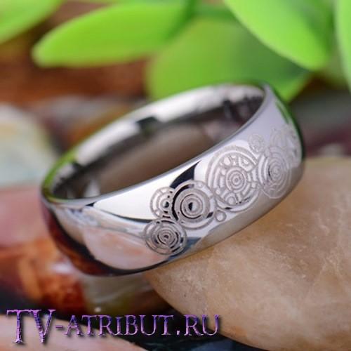 """Кольцо """"Галлифрей"""", цвет серебро, карбид вольфрама"""