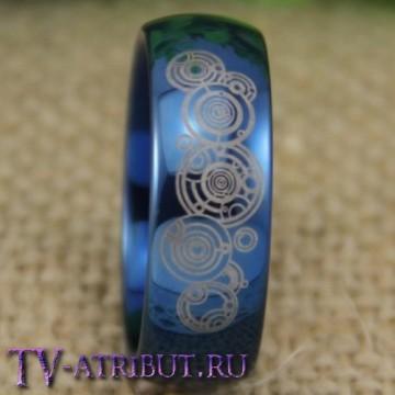 """Кольцо """"Галлифрей"""", синий цвет, карбид вольфрама"""