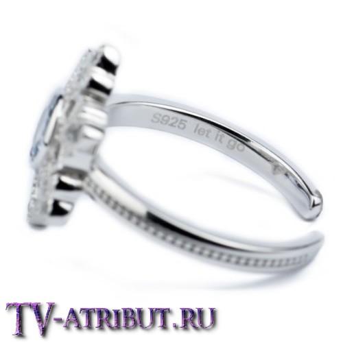 Кольцо Эльзы, серебро 925 пробы, с аквамарином