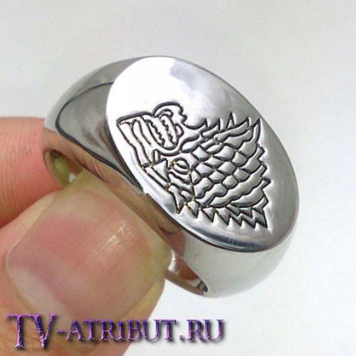 Кольцо с лютоволком дома Старков