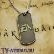 Кулон-жетон с надписью Battlefield 4, цвет бронза