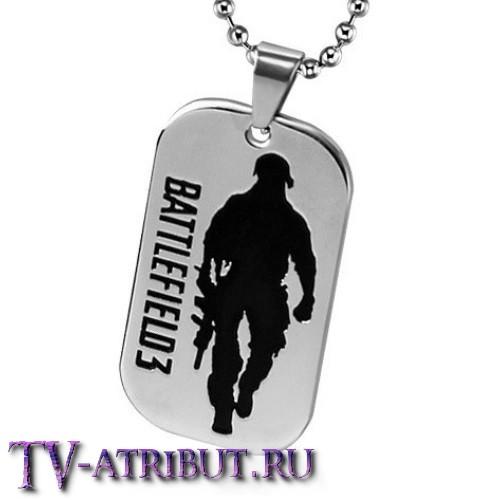 """Кулон-жетон из """"Battlefield 3"""", титановая сталь"""