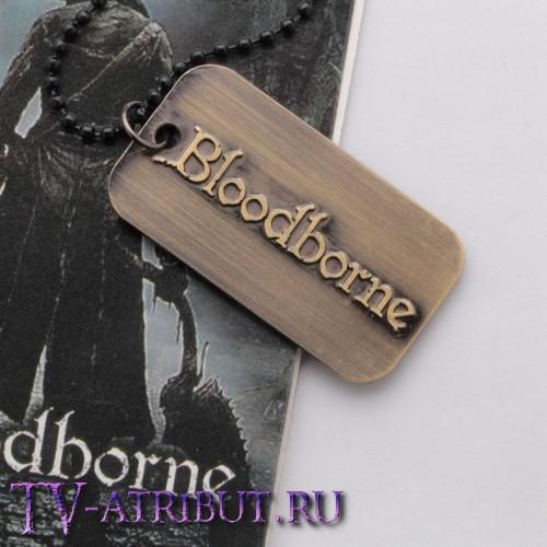 Кулон-жетон с силуэтом главного героя Bloodborne