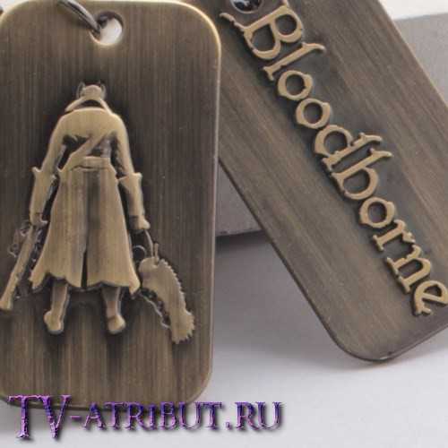 Брелок-жетон с силуэтом главного героя Bloodborne