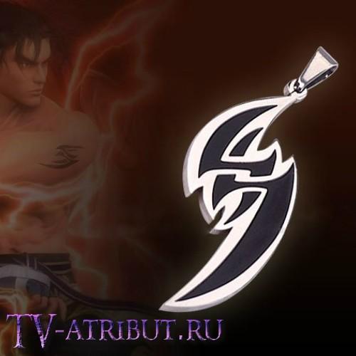 "Кулон Дзина Кадзама из игры ""Tekken"", сталь (2 цвета)"