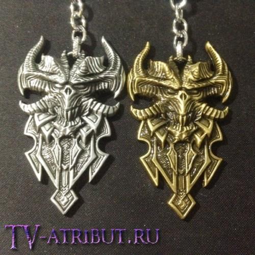 Брелок по мотивам игры Diablo (цвета - бронза, серебро)