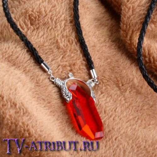 Кулон Данте, с платиновым покрытием и кристаллом