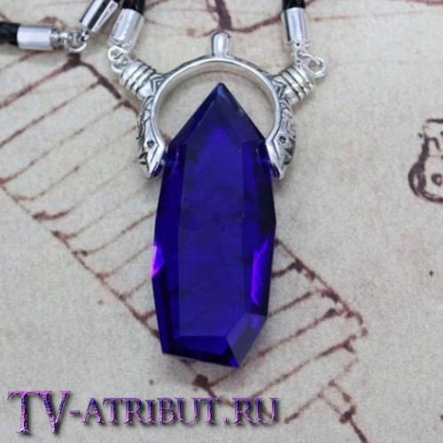 Кулон Вергилия, с платиновым покрытием и кристаллом
