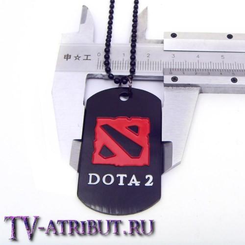"Кулон-жетон с надписью ""Dota 2"""