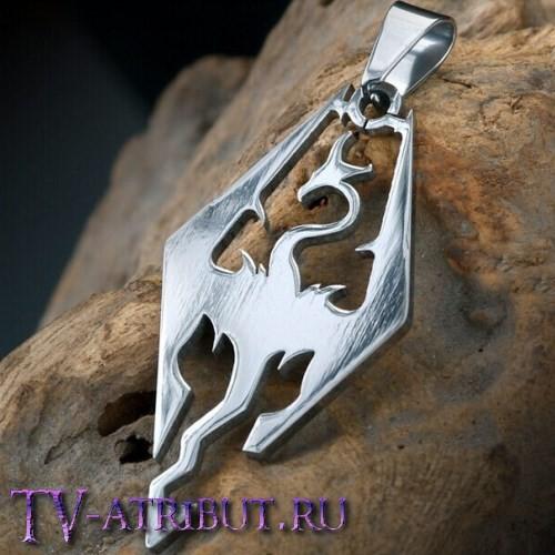 Кулон в виде дракона, титановая сталь