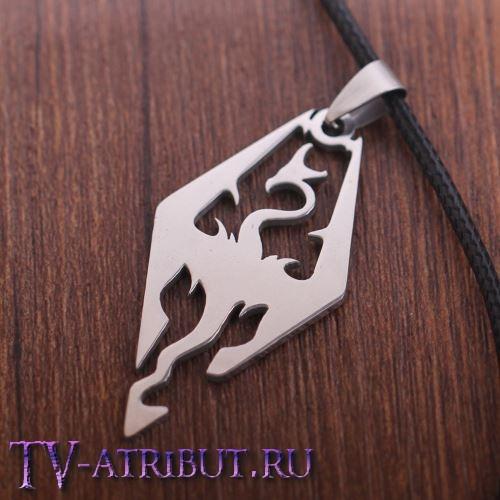 Кулон в виде дракона - символа Скайрим
