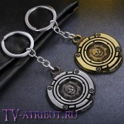 "Брелок с эмблемой ""Gears of War"" (цвета - бронза, серебро)"