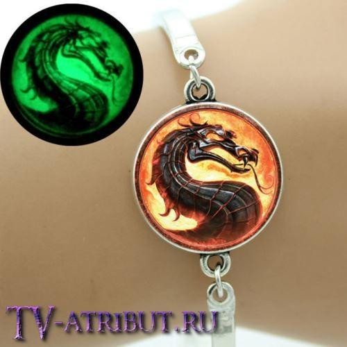 Браслет с драконом, светящийся в темноте