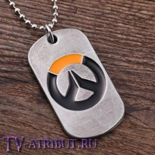 "Кулон жетон с логотипом ""Overwatch"""