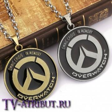 "Кулон с эмблемой ""Overwatch"" (цвета - бронза, серебро)"