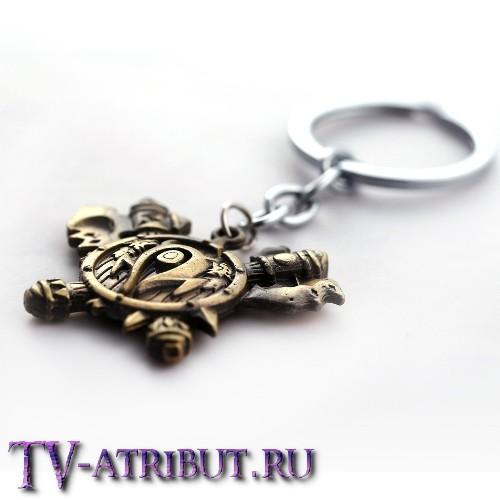 """Брелок """"Щит и топоры орков Орды"""""""
