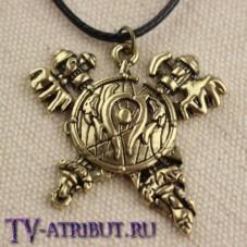 Кулон в виде щита и топоров орков Орды
