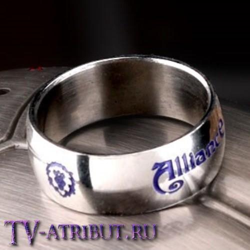 """Кольцо людей """"Alliance"""", титановая сталь"""
