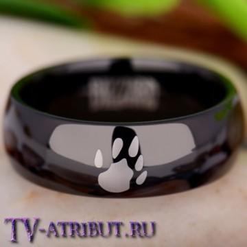 Кольцо с символом друида-медведя, карбид вольфрама
