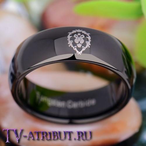 Кольцо с символом Альянса, карбид вольфрама