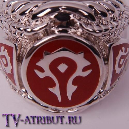 """Кольцо орков """"Horde"""" c покрытием платины"""
