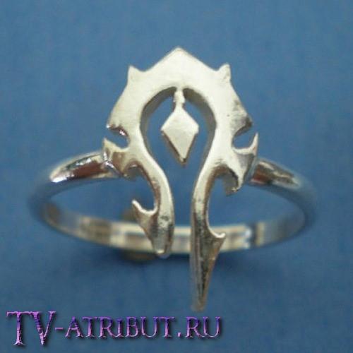 Кольцо с эмблемой Орды (цвета - золото, серебро)