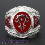 Кольцо со знаком Орды, сталь и эмаль