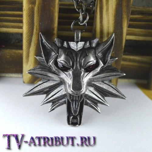 Кулон Геральта в виде символа Школы волка