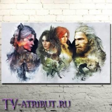 """Постер """"Цири, Йеннифер, Трисс и Геральт"""""""